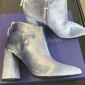 Stuart Weizmann steel pane velvet boots